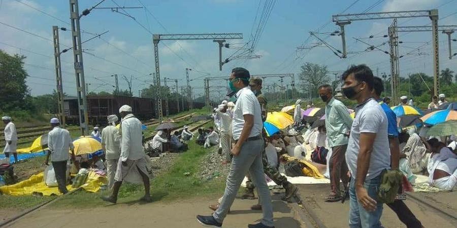 Tana Bhagat protests