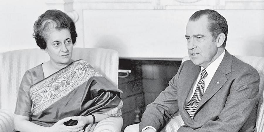 Prime Minister Indira Gandhi and US President Richard Nixon.