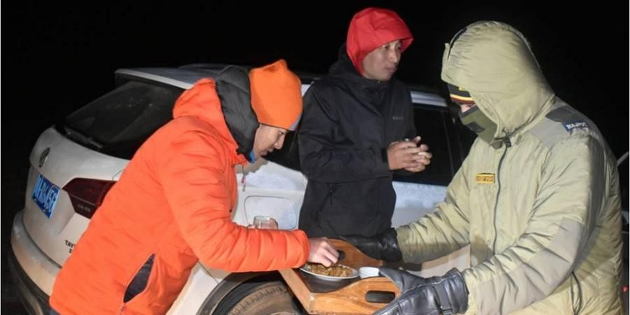 Indian Army rescued three Chinese citizens who lost their way in Sikkim. (Photo| Army handout)