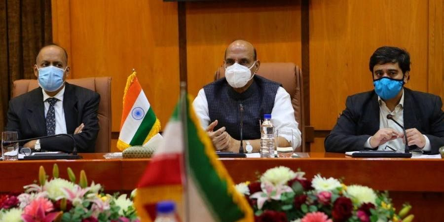 Defence Minister Rajnath Singh in Iran.