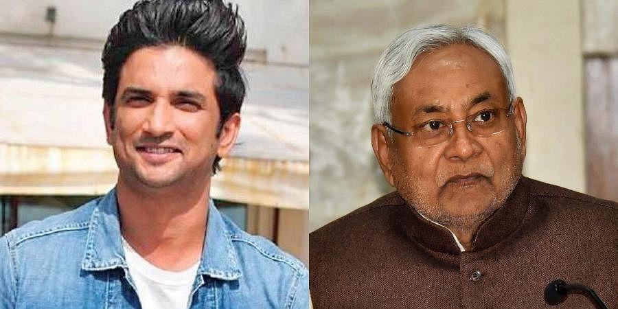 Late actor Sushant Singh Rajput and Bihar CM Nitish Kumar (Photo | PTI)