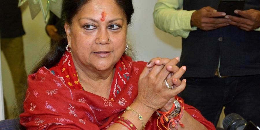 Rajasthan's former CM Vasundhara Raje