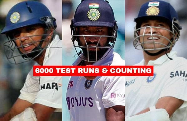 As Cheteshwar Pujara today became only the 11th Indian batsman in Test cricket to cross 6000 runs, let us take a look at the 10 other Indian cricketers who have achieved this feat.