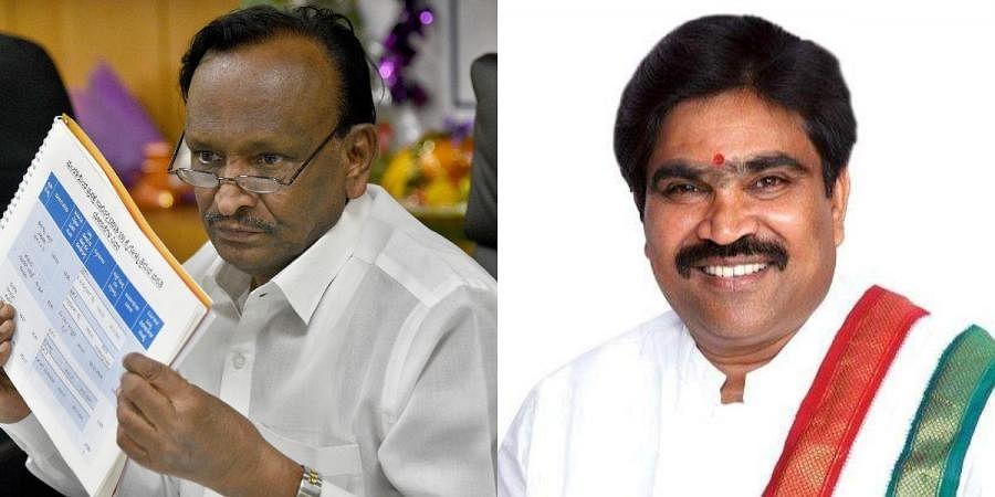 MTB Nagaraj (L) and R Shankar will be taking oath as ministers