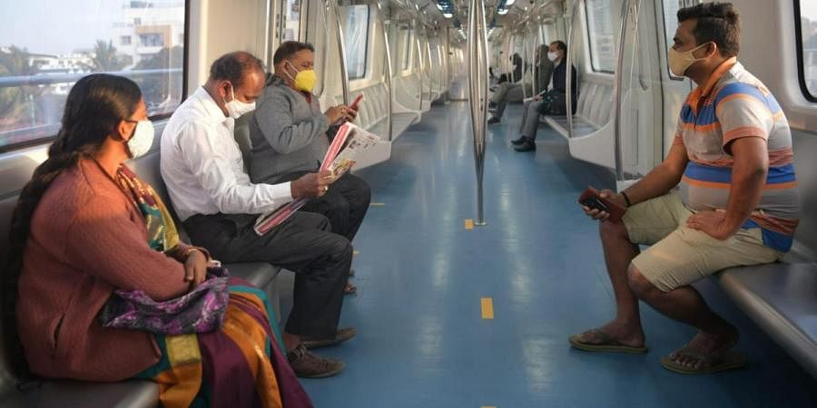 The first train on the newly launched line from Silk Institute to Yelachenahalli, left Silk Institute at 7 am had ten passengers on board