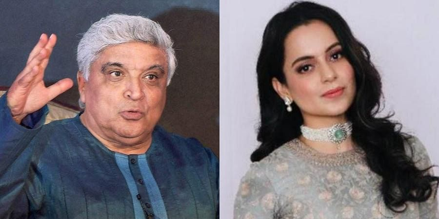 Bollywood lyricist Javed Akhtar (L) and Kangana Ranaut (R)