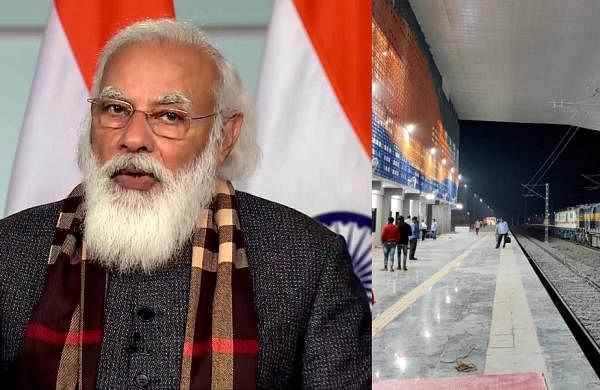 PM Narendra Modiflags off eight trains to boost connectivity to Statue of Unity in Gujarat