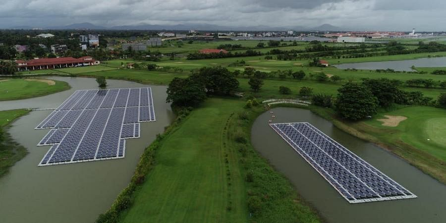 The plants covering a total area of one acre are connected to the Kerala State Electricity Board (KSEB) power grid which is to be banked when needed.