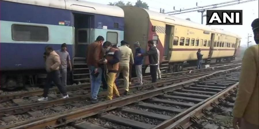 Two bogies of train derail in Lucknow.