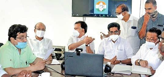 UDF leaders attend the front's meeting at the District Congress Committee office in Kochi on Friday | A Sanesh