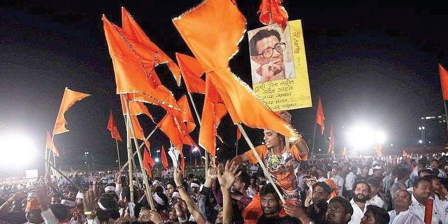 Shiv Sena flags