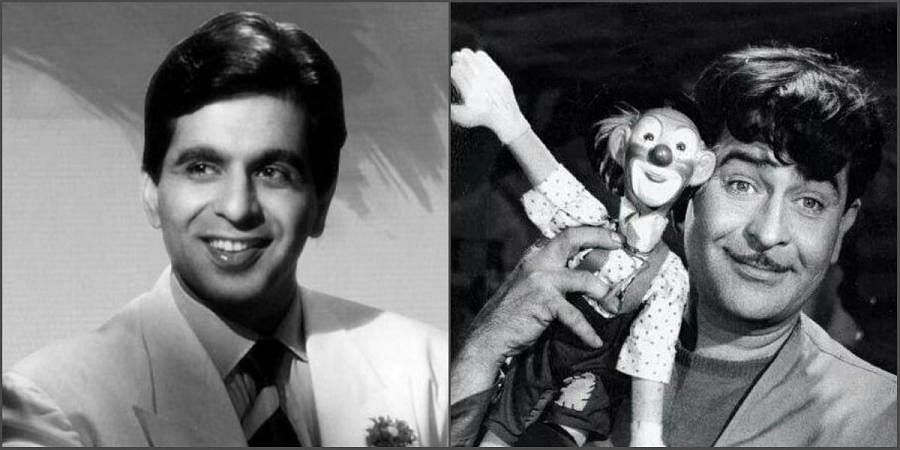 Legendary Bollywood actors Dilip Kumar and Raj Kapoor