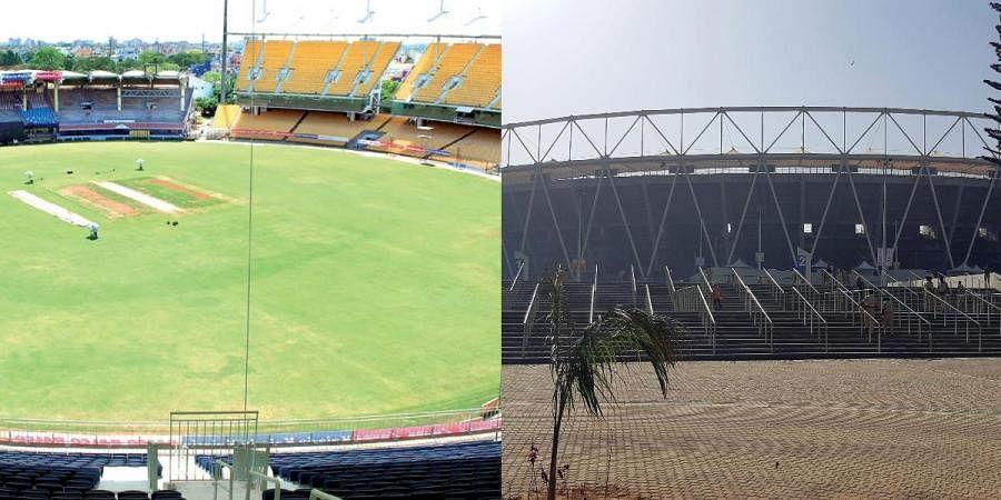 MA Chidambaram stadium in Chennai (L) and Motera Stadium in Ahmedabad
