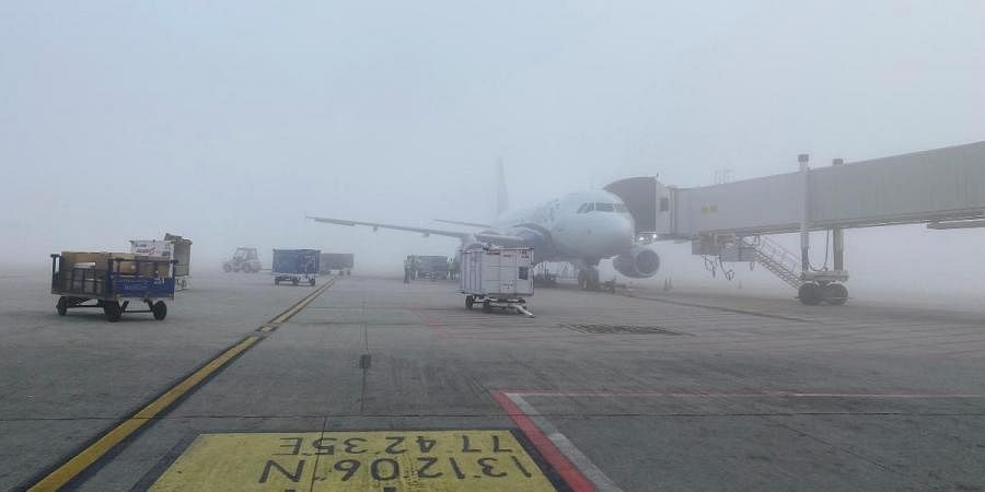 Indigo's 6E-6389 from Lucknow had a successful touchdown on the South Runway at Bengaluru Airport