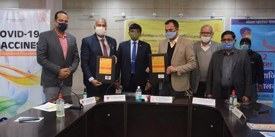 Officials of Indian Oil Corporation Limited of Bihar unit signed a Memorandum of Understanding (MoU) with the state health committee.