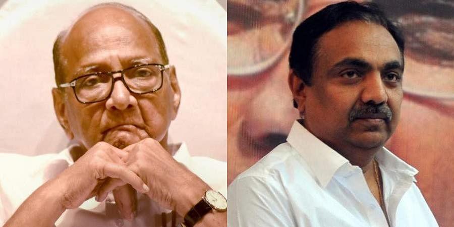 NCP chiefSharadPawar (L) and Maharashtra minister Jayant Patil