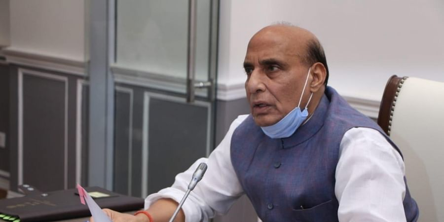 Defence Minister Rajnath Singh. (Photo| Twitter)