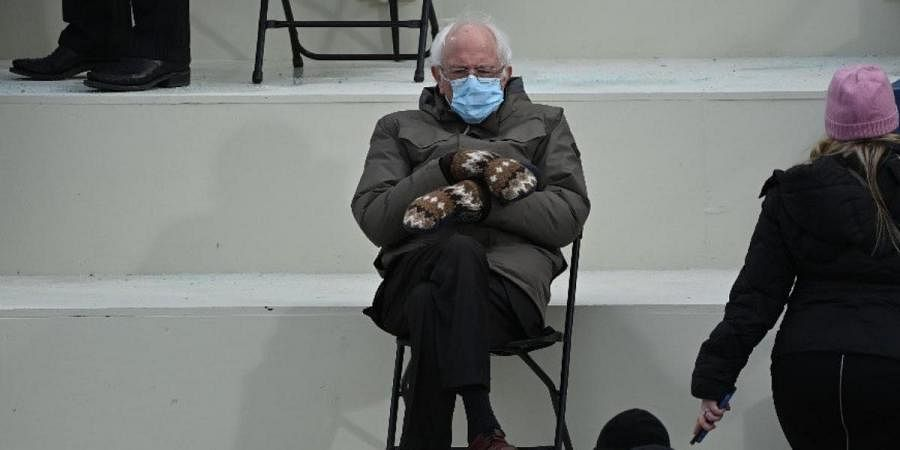 Here S How Bernie Sanders Reacted To Memes On His Viral Mittens The New Indian Express