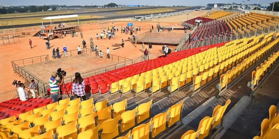 The Air Force Station in Yelahanka gears up to host the Aero India 2021. (Photo | Shriram BN, EPS)