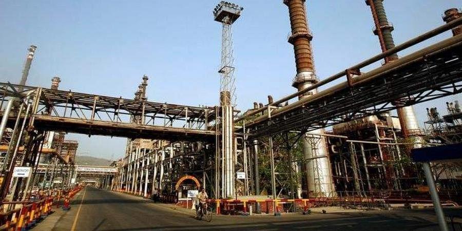 Bharat Petroleum Corporation Ltd refinery in Mumbai.