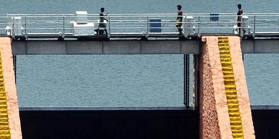 A view of Mullaperiyar dam