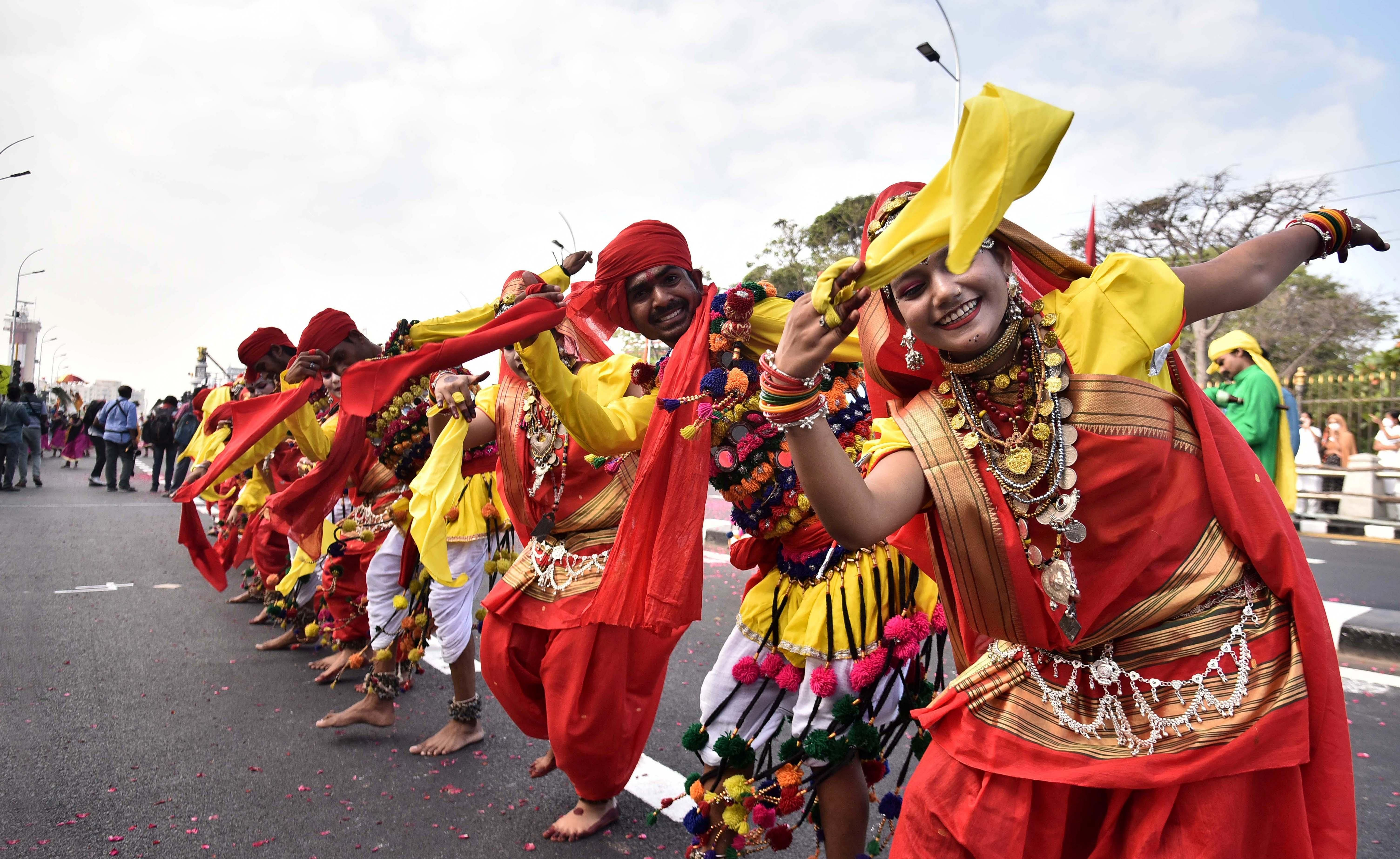 Cultural show at the republic Day celebrations held in Chennai.