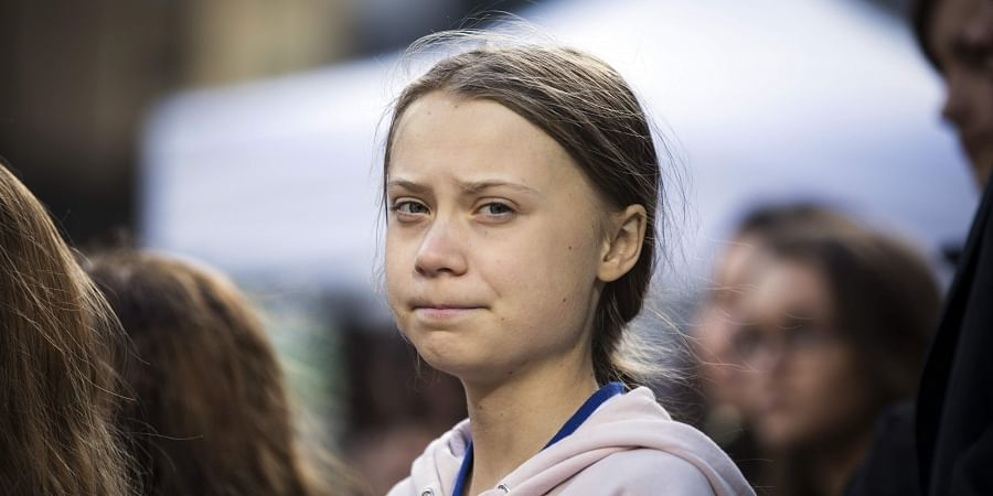 Swedish climate activist, Greta Thunberg, attends a climate rally, in Vancouver, British Columbia. (Photo   AP)