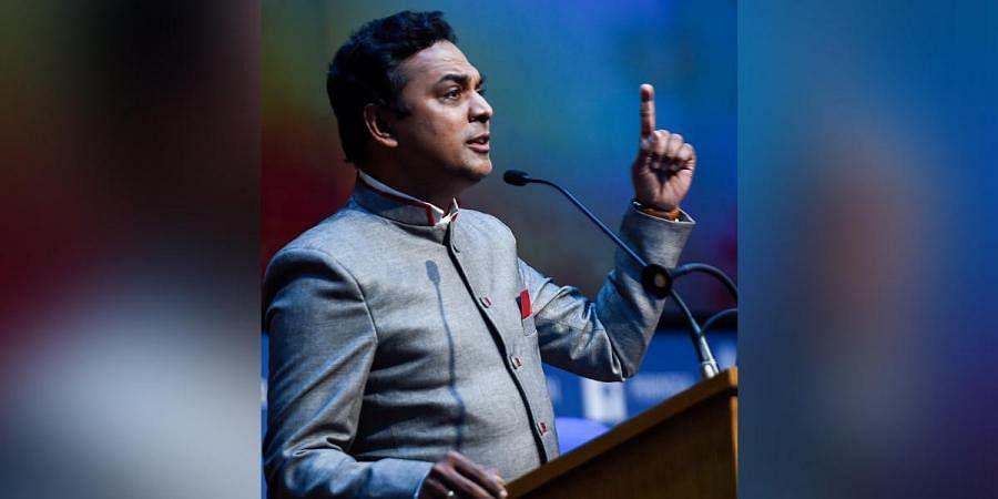 Chief Economic Advisor Krishnamurthy Subramanian addresses a press conference on Economic Survey 2020-21, in New Delhi. (Photo | PTI)