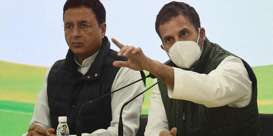 Congress leader Rahul Gandhi speaks during a press conference at AICC HQ, in New Delhi on Friday, Jan. 29, 2021.(Photo  Parveen Negi, EPS)