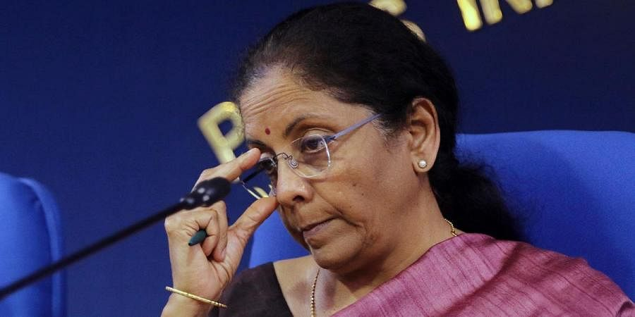 Union Finance minister Nirmala Sitharaman during the Cabinet briefing in New Delhi