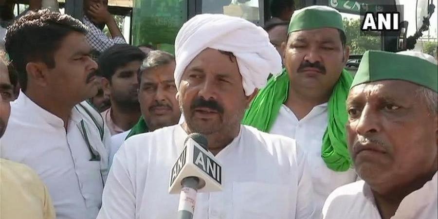 Bharatiya Kisan Union national president Naresh Tikait