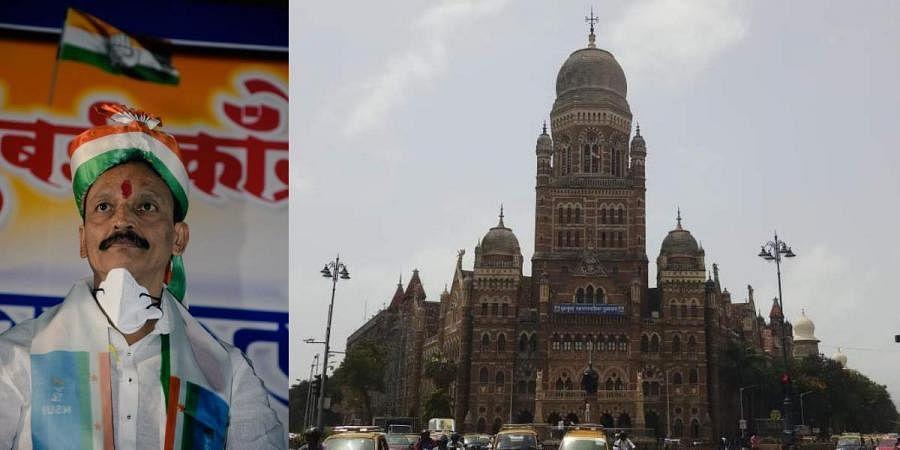 Mumbai Congress chief Bhai Jagtap (L) and Brihanmumbai Municipal Corporation