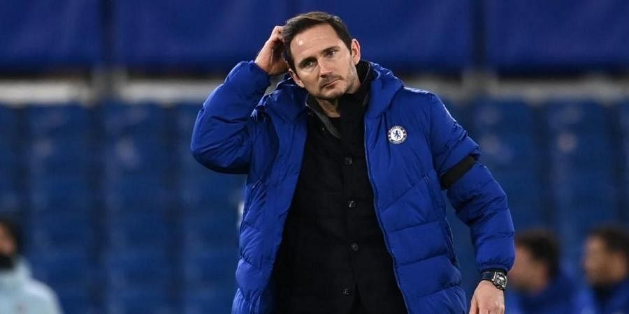 Chelsea's English head coach Frank Lampard