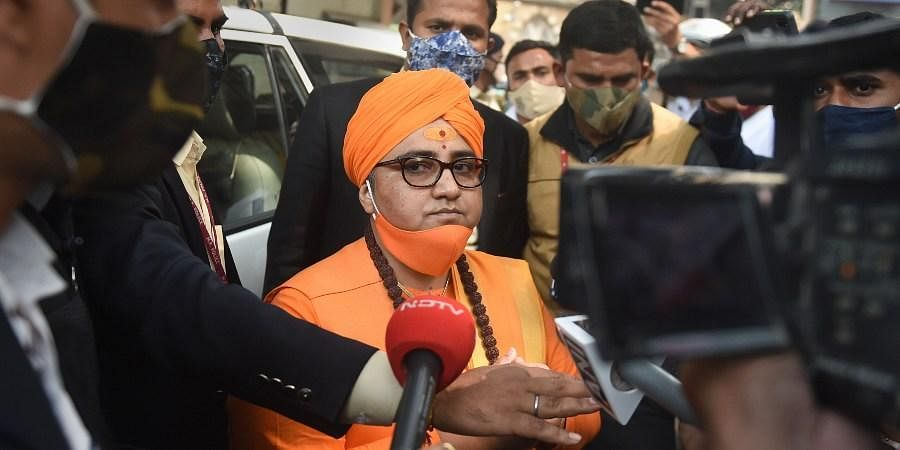 BJP MP Sadhvi Pragya Singh Thakur arrives at the special NIA court in connection with the Malegaon blast case in Mumbai Monday