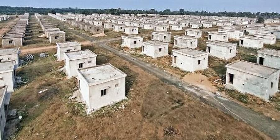 Old and new layouts of R&R colonies for Polavaram project oustees