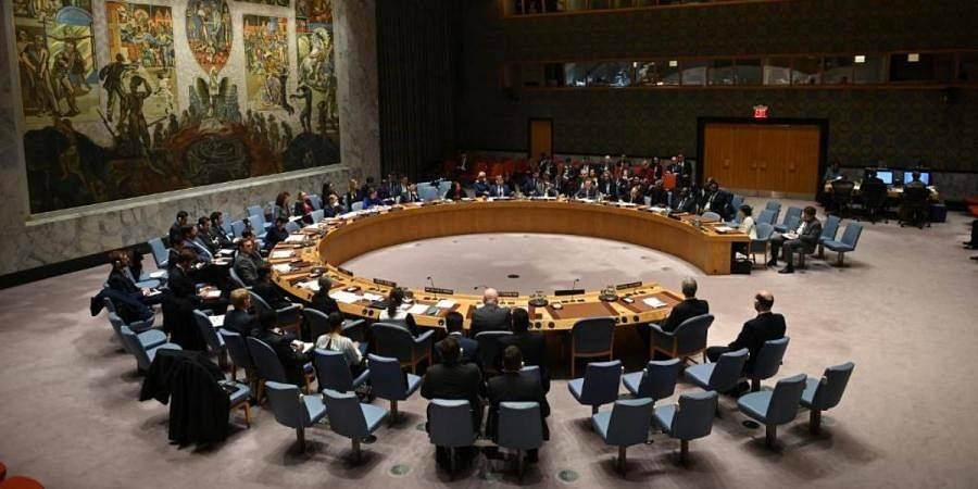 UN Security Council meeting at United Nations headquarters