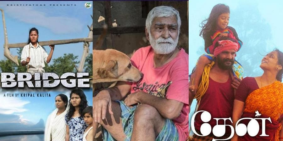 Posters of 'Bridge', 'A Dog And His Man' and 'Thaen'