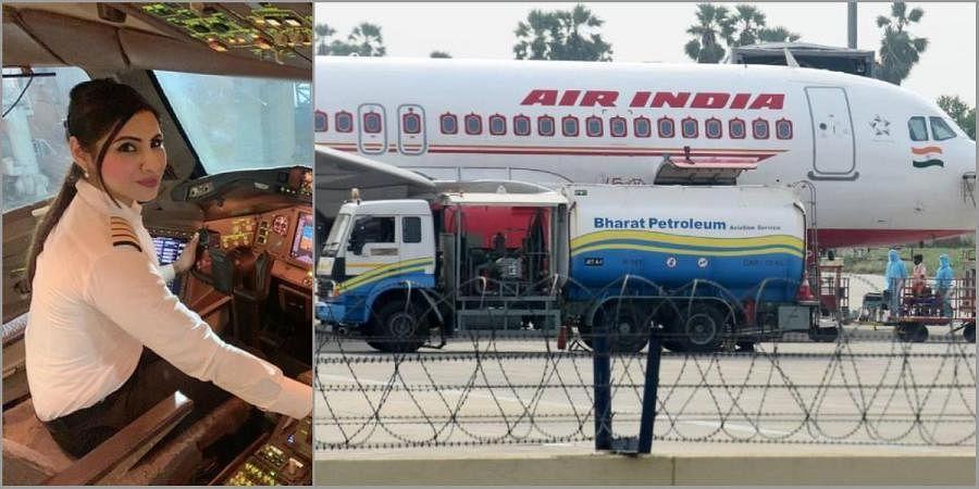 Captain Zoya Agarwal (L) will be flying the Air India flight