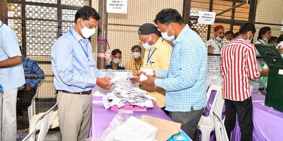 Counting process of GHMC elections has started in Hyderabad on Friday. (Photo | Express)