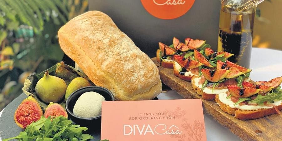 'Diva Casa Pantry' with its DIY meal kit of essentials.