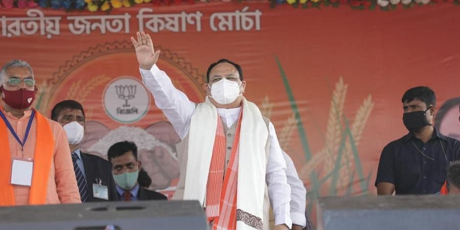 BJP President JP Nadda in Bengal. (Photo| Twitter/ @JPNadda)