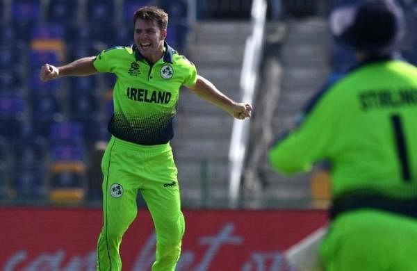 Ireland's Curtis Campher takes four wickets in four balls against Holland at T20 World Cup