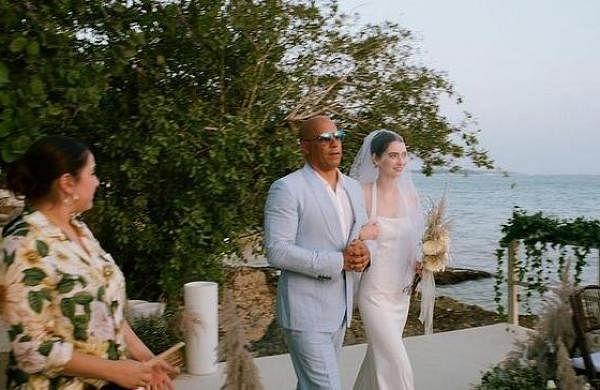 Vin Diesel walks Paul Walker's daughter Meadow down the aisleat her wedding,see pics here