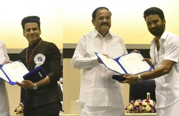 Manoj Bajpayee, Dhanush honoured as Best Actors at 67th National Film Awards