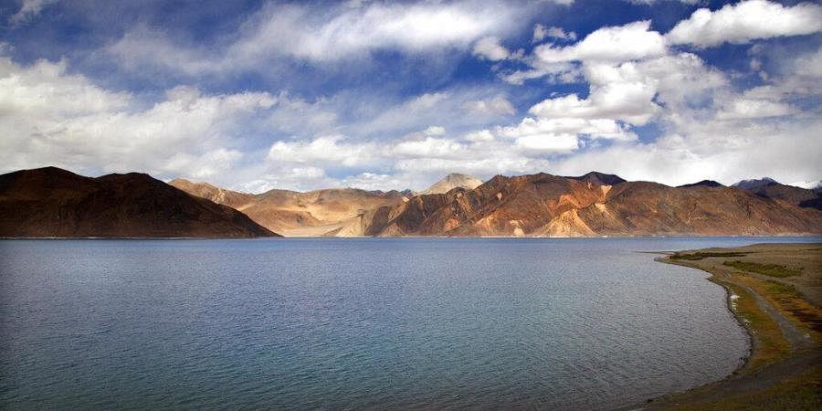 Pangong Lake in Ladakh region, India.