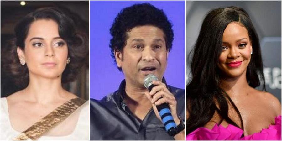 (From left) Kangana Ranaut, Sachin Tendulkar and Rihanna
