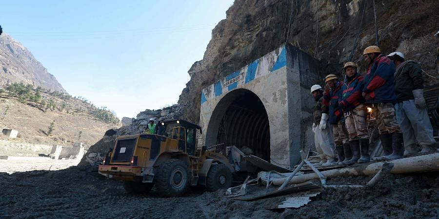 Rescue operations continue at Tapovan Tunnel followingglacier burst in Joshimath causing a massive flood in the Dhauli Ganga river in Uttarakhand's Chamoli.