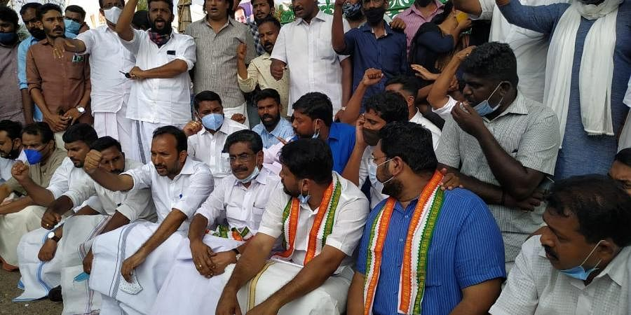 Shafi Parambil MLA, K S Sabarinadhan MLA kicked off their indefinite fast before the Secretariat in solidarity to the PSC last grade rank holders on Sunday.