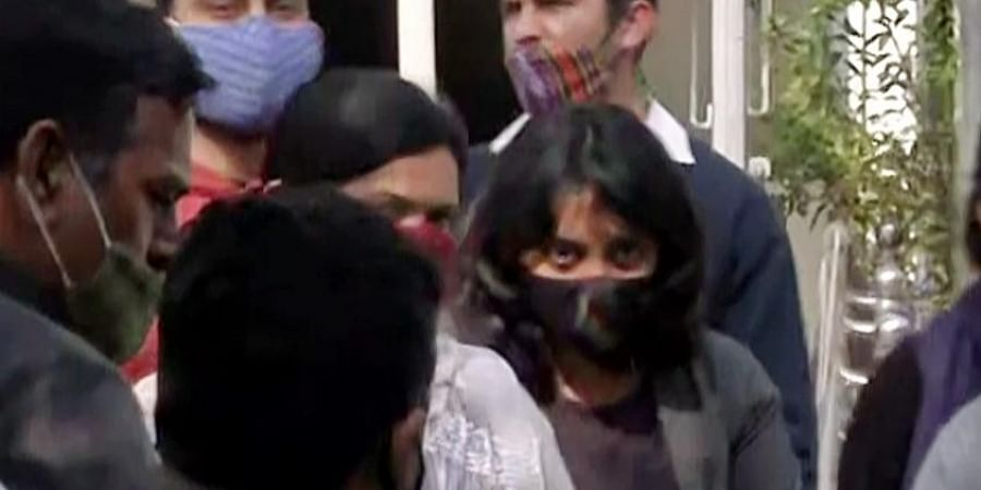 Activist Disha Ravi sent to 5 days Delhi police special cell custody, in New Delhi on Sunday.