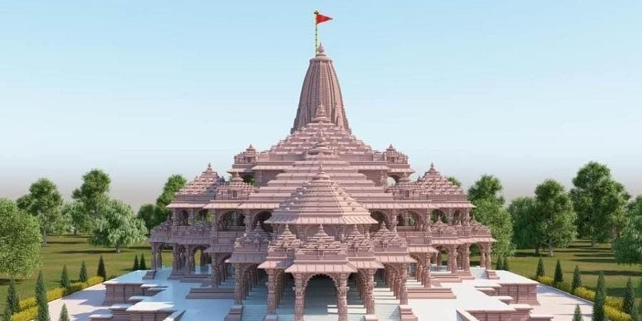 A proposed model of Ram temple in Ayodhya.